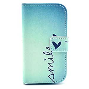 MOFY- Smile Butterfly Design PU Leather Full Body Case with Stand for Samsung Galaxy S3 Mini I8190