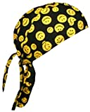 Smiley Face Doo Rag Happy Skull Cap Mens or Womens with Bumper Sticker