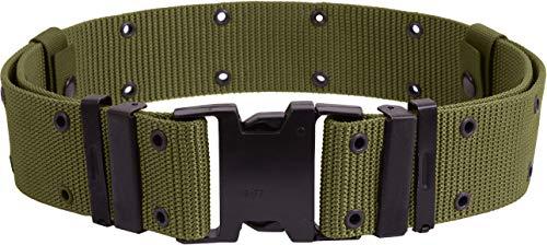 Pistol Belt Military Nylon Tactical Web Utility Duty ALICE Marine Corps GI Type Medium Size Large Accessories (Olive Drab, Large) ()