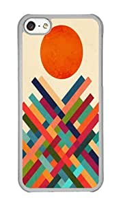 Apple Iphone 5C Case,WENJORS Cute Sun Shrine Hard Case Protective Shell Cell Phone Cover For Apple Iphone 5C - PC Transparent