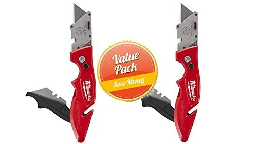 Milwaukee 48-22-1902 Fastback II Flip Utility Knife with Storage (2 Pack) by Milwaukee