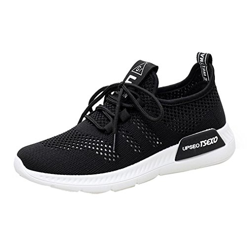 Clearance Women Girls Running Shoes-Casual Mesh Slip-on Sneakers Athletic Walking Shoes 5.5-9 (Black, US:9) by Aurorax-Shoes