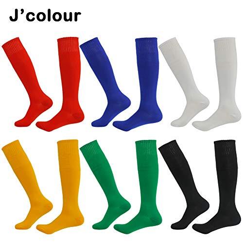 Tube Soccer Socks,Jcolour Unisex Solid Knee High Team Sports Socks Pack of 2/6/10