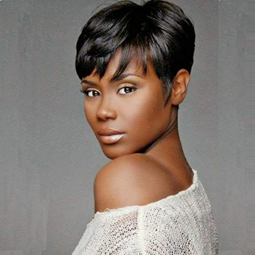 Search : RUISENNA Short Human Hair Wigs Pixie Cut Black Wigs for Black Women Glueless Wigs for African American