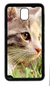 Cute cat customized Hard samsung galaxy note 3 N9000 TPU Black Case