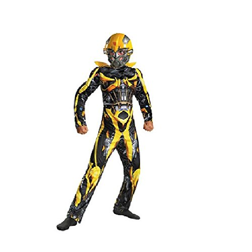 [G-Dreamer Halloween Transformer Costume for Kids Bumblebee No Mask 3 to 10yrs old] (Transformer Costumes That Transforms)