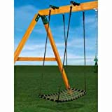 Gorilla Playsets Chill 'N Swing with Swing Brackets, Black & Green - Toys and Games - Outdoor Play - Playground Swing Sets - Swing brackets fit 4'' x 6'' swing beams Construction: Woven rope, plastic, metal 21'' x 43''; hangs approximately 70''