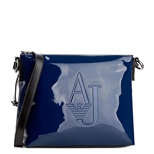save up to 80% newest collection 2018 sneakers ARMANI JEANS Borsa donna a tracolla in pvc lucido OCEAN BLU ...