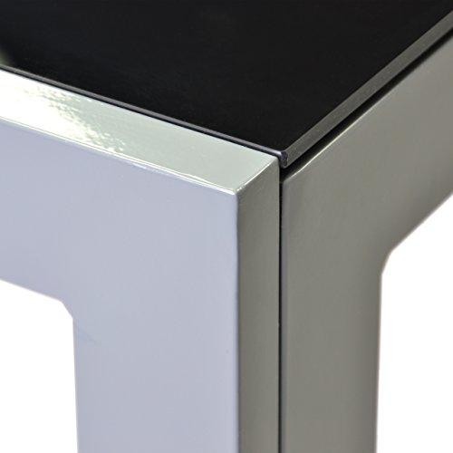 Gartentisch alu glas  Amazon.de: Aluminium Gartentisch Glasplatte Glas Glastisch schwarz ...