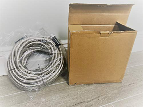 Forever Steel Hose 50' 304 Stainless Steel Garden Hose - As Seen On TV - Lightweight, Kink-Free Stronger Than Ever, Durable Easy to Use