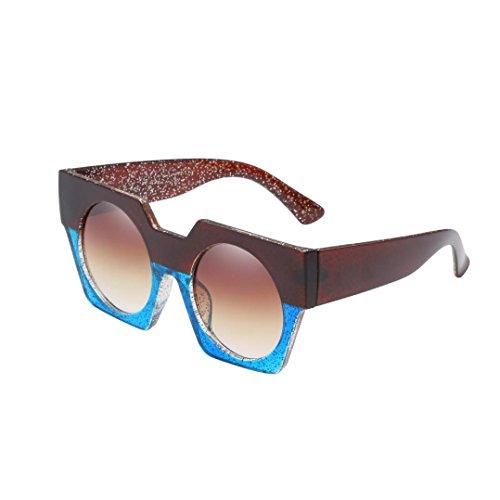 - Tpingfe Fashion Neutral Fashion Neutral Big Box Double Color Shades Sunglasses, Integrated UV Glasses (E)