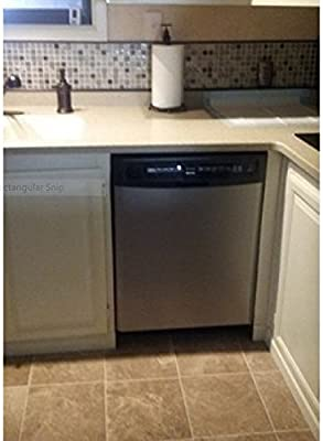 "Built-In Dishwashers Update: Peel and Stick Stainless Steel Cover 26"" X 36"" by EzFaux Décor"