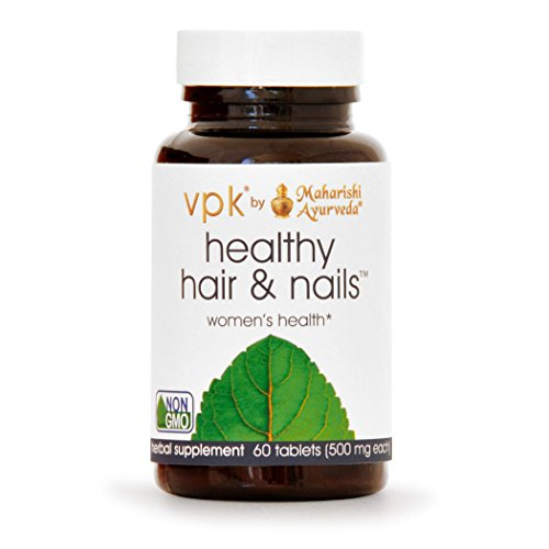 Healthy Hair & Nails | 60 Herbal Tablets - 500 mg ea. | Natural Herbal Supplement for Split Ends, Brittle Hair & Flaky Scalp | Nutritional Support for Nails | Supports Growth of Hair & Nails