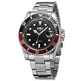 Reloj Hombre T- Winner Automático Acero Inoxidable (Rojo)