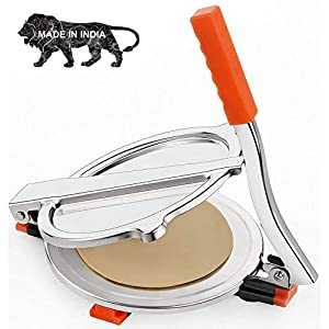 KALAKUNJ Heavy Quality Stainless Steel Puri and Roti Maker Press Machine with Handle, Manual Stainless Steel Roti Press…