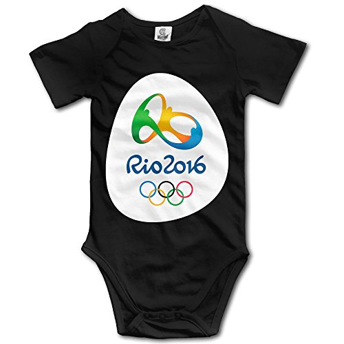 Price comparison product image Olympics Games Boy's & Girl's The 2016 Rio De Janeiro Black Tshirt Size 6 M