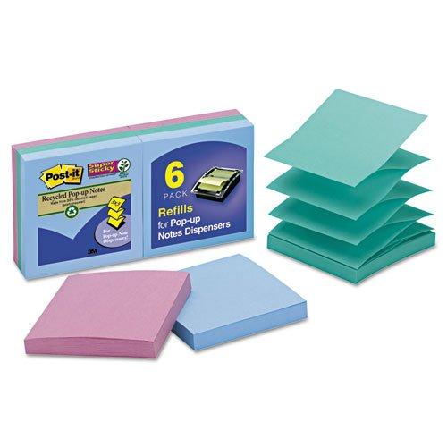 Notes Super Sticky Pop - Wholesale CASE of 15 - 3M Post-it Super Sticky Tropical Pop-up Refills-Super Sticky Pop-ups,3