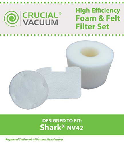 Shark NV42 Foam & Felt Filter Kit, Part # XFF36, Designed & Engineered by Crucial Vacuum (Shark Navigator Nv4226 Filters compare prices)