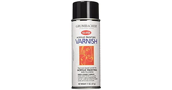 Grumbacher Hyplar Gloss Varnish Spray For Acrylic Paintings