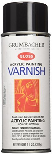 (Grumbacher Hyplar Gloss Varnish Spray for Acrylic Paintings, 11 Oz. Can, #547)