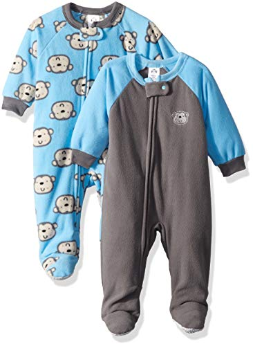 Gerber Baby Boys' 2-Pack Blanket Sleeper, Monkey, 18 Months ()