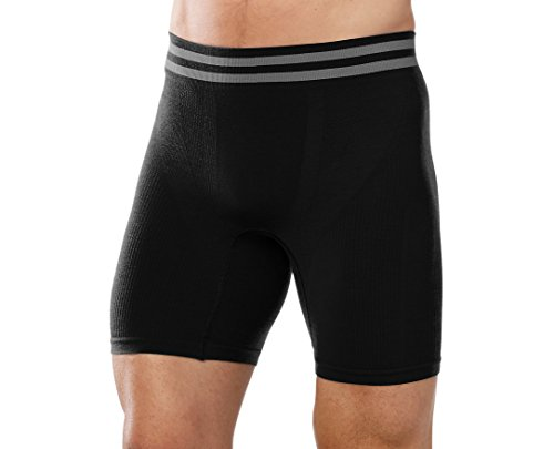 "Smartwool Men's PhD Seamless 6"" Boxer Brief Large"