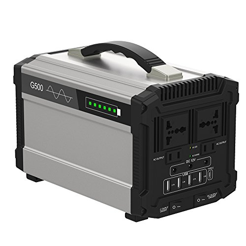 500w Portable Power Station Solar Generator Lithium 444wh
