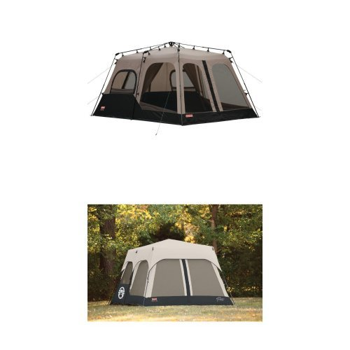 Coleman 8-Person Instant Tent (14'x10′) and Coleman Accy Rainfly Instant 8 Person Tent Accessory