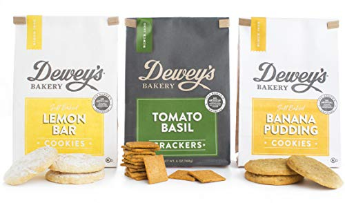 Dewey's Bakery Garden Party Cookie & Cracker Variety Pack | Baked in Small Batches | Real, Simple Ingredients | Southern Bakery Recipes | Pack of 3 6-oz bags -