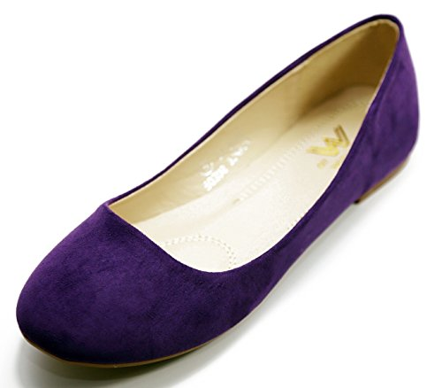 Walstar Shoes New Women Suede Ballet Flat Shoes Slip On