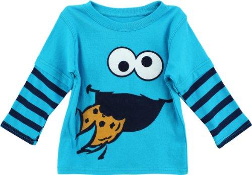 Jual Sesame Street Boys  Cookie Monster Long Sleeve T-Shirt (Toddler ... e09418163