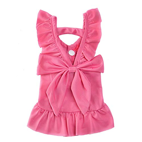 Summer Dog Dress Pet Dog Clothes for Small Dog Wedding Dress Skirt Puppy Clothing Spring Fashion Jean Pet Clothes,2,L ()
