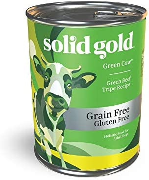 Solid Gold – Green Cow Beef Tripe Broth – Natural Wet Canned Dog Food for Sensitive Stomachs Picky Eaters – Grain Free Meal or Topper