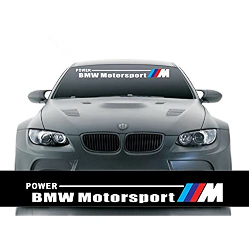 Etie 125x20cm reflective car styling front windshield banner decal vinyl car stickers for bmw auto diy exterior modifield accessories black background