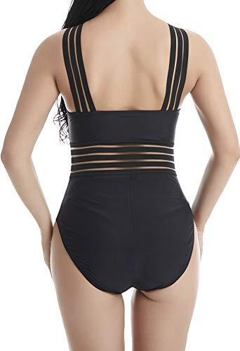 53d2f9e409cf9 DUSISHIDAN Sexy One Piece Swimsuit Women's High Cut Strappy Backless Bathing  Suit