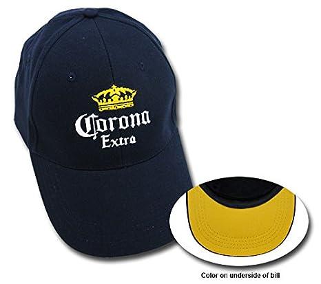 Amazon.com  Corona Extra Navy EMBROIDERED BEER CAP BASEBALL PROMO ... 18ad4586add