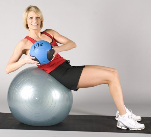 Buy 75cm Exercise Ball: J/fit 45cm Stability Exercise Ball (Red)