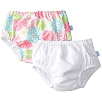 i play. Baby Reusable Swim Diaper, White/White Zinnia, 6 Months (Pack of 2)