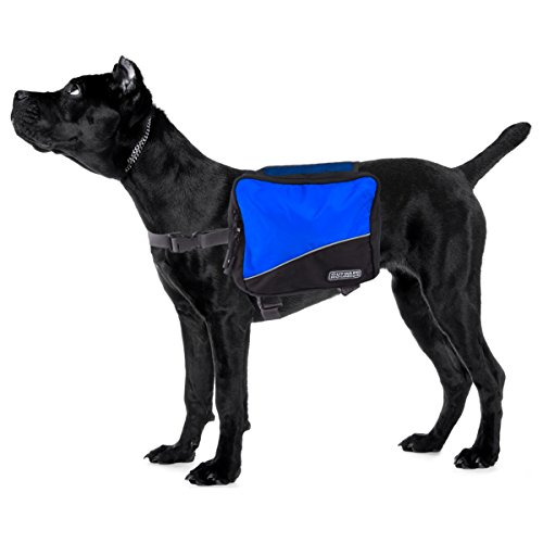 Outward Hound DayPak Dog Backpack, Saddlebag, Medium, Blue by Outward Hound