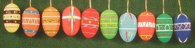 Dregano Ten Wood Erzgebirge Matte Eggs Ornament, Set of 10,
