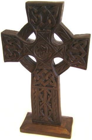 Fair Trade 28cm by Cornwall Art Prints Wooden ornament Celtic Cross