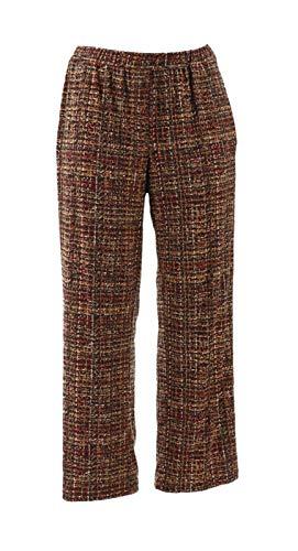 - Susan Graver Printed Liquid Knit Pull-On Pants Plaid XL New A294871