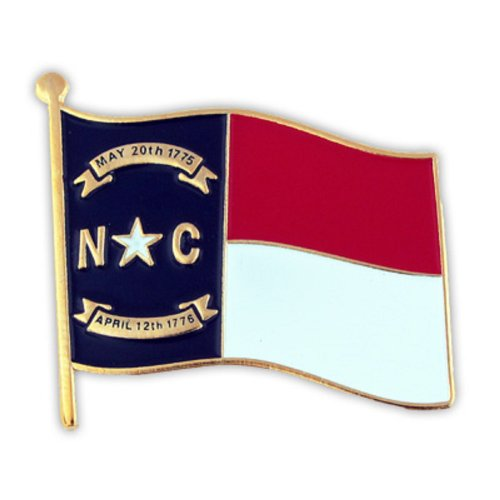 PinMart North Carolina US State Flag NC Enamel Lapel Pin 1""