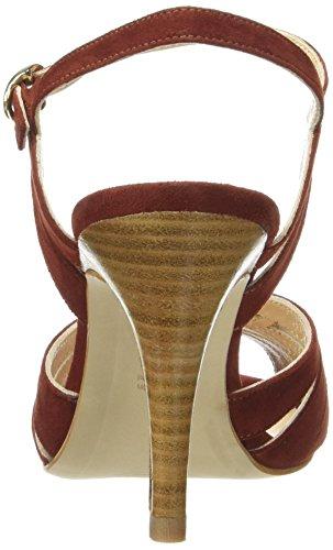 Sandales Femme Brique Escarpins Mendigote Bout Suede Moyen Petite Rouge Talons Ouvert Hibiscus 5qRnwzzOA