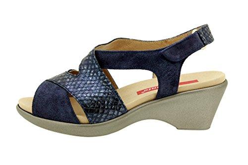 Confort Amovible Sandale Confortables PieSanto 8861 en Chaussure Marino Amples Femme Semelle Cuir 8qYqHEw
