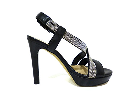 Bruno Premi  F2904N vitello nero, Chaussures à brides femme