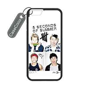 CASECOCO(TM) iPhone 6 Case, 5 SOS Case for iPhone 6 (4.7-inch) - Protective Hard Back / Black Rubber Sides