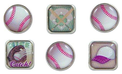Karen Foster Design Scrapbooking Bubble Brads, Baseball, 12 x 12