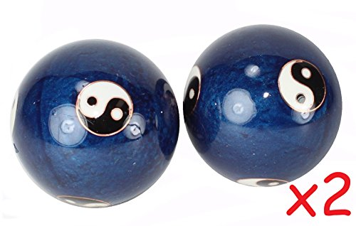 4 Stress Relief Iron Ball / for Hand Exercise Taiji Style Hand Grip Squeeze Finger Therapy