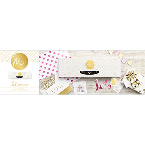 Price comparison product image Heidi Swapp Minc Foil Application Machine Starter Kit by American Crafts / Includes machine,  one transfer folder,  one gold foil sheet,  and three tags